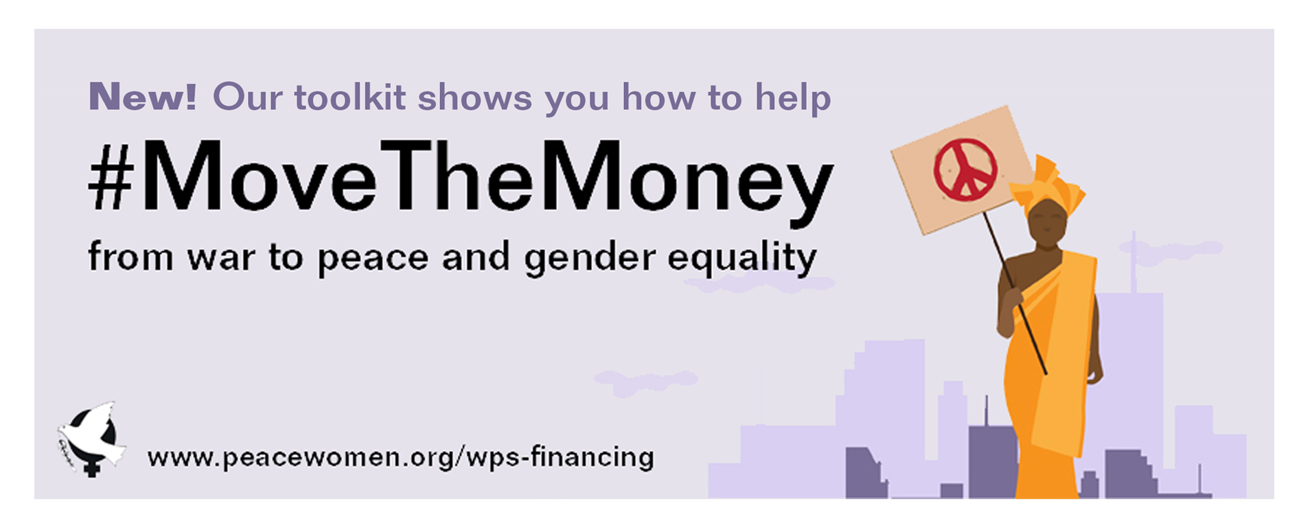 Learn how to help #MoveTheMoney from war to peace!