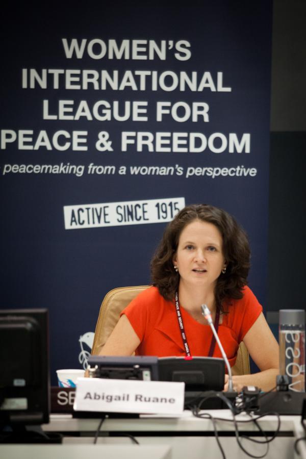 Abigail Ruane, Programme Manager of PeaceWomen